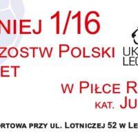1/16 Finału Mistrzostw Polski Juniorek w piłce ręcznej kobiet – LEGNICA
